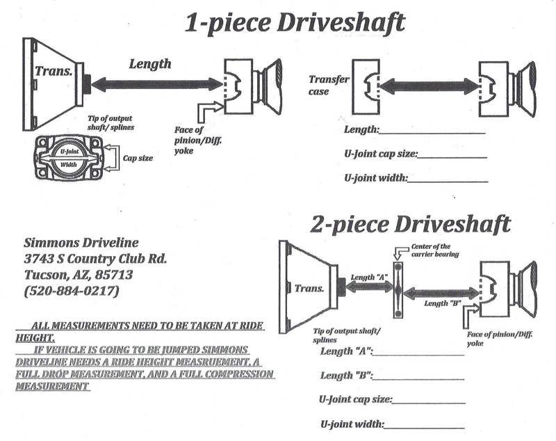 How to measure a driveshaft